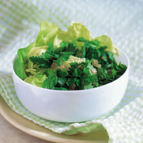 Green Herb Salad with Champagne Vinaigrette