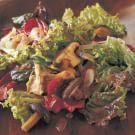 Roasted Mushroom and Shallot Salad with Balsamic Vinaigrette