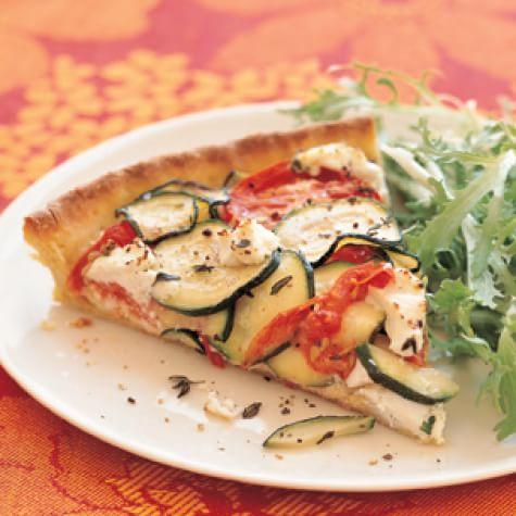 Tomato-Zucchini Tart with Goat Cheese | Williams Sonoma