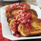 Challah French Toast with Cranberry-Apple Compote