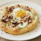 Pizzas with Eggs and Bacon