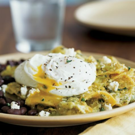 Chilaquiles with Poached Eggs and Black Beans | Williams Sonoma