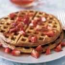 Waffles with Strawberry and Honey Sauce