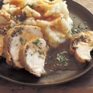 Cremini-Stuffed Chicken Breasts with Porcini Pan Sauce