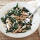 Penne with Ricotta Cheese and Greens