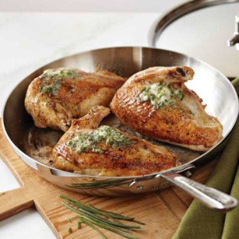 Pan-Roasted Chicken with Herb Compound Butter | Williams ...