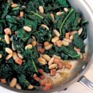 Braised Black Kale with White Beans and Smoked Ham