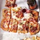 Salumi and Cheese Pizza