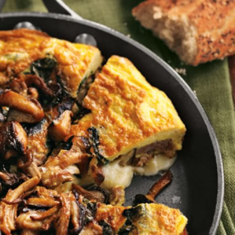 Frittata with Sausage, Wild Mushrooms and Cheddar | Williams Sonoma