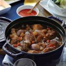 Momofuku Clay Pot Chicken with Steamed Rice and Baby Bok Choy