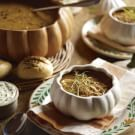 Butternut Squash Soup with Caramelized Fennel and Leeks