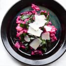 Red Beet Risotto for Two