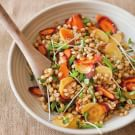 Wheat Berry Salad with Snow Peas and Carrots