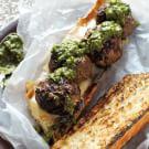 Grilled Meatball Sandwich
