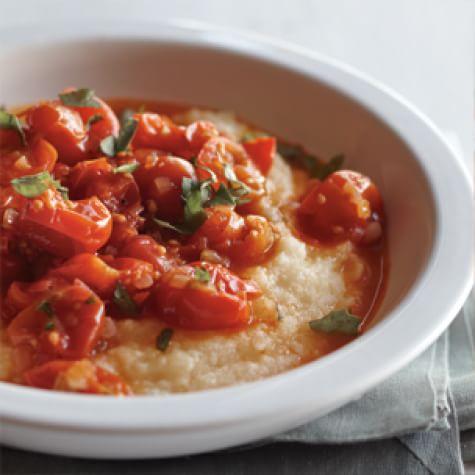 cherry tomato ragu with polenta cherry tomato ragu with polenta is ...