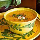 Pumpkin Soup with Brown Butter and Crème Fraîche