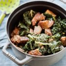 Garlicky Pork Shoulder with Greens