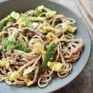 Stir-Fried Soba Noodles with Beef and Cabbage