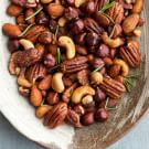 Candied Mixed Nuts with Rosemary
