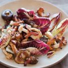 Warm Wild Mushroom Salad with Bacon Vinaigrette