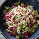 Chopped Salad with Broccoli, Egg and Radicchio