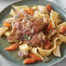 Chicken and Noodles with Sweet Root Vegetables