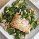 Halibut with Braised Escarole and White Beans
