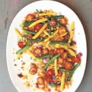 Cherry Tomato, Green Bean and Wax Bean Salad with Herbed Bread Crumbs