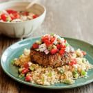 Lamb Burgers with Mint Greek Salad Topping