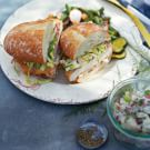 Ad Hoc Fried Chicken Sandwiches with Coleslaw