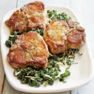 Sautéed Pork Chops with Kale Salad