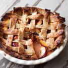 Nectarine Lattice Pie