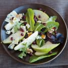 Pear Salad with Blue Cheese, Walnuts and Pomegranate
