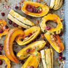 Roasted Squash with Cranberries and Thyme