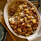Focaccia Stuffing with Chestnuts, Bacon and Apples