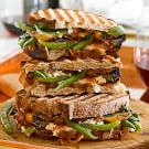 Panini with Green Beans, Greens and Herbed Goat Cheese