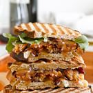 Stuffing Panini with Onion Jam and Gravy