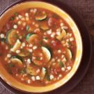 Tomato, Zucchini and Fresh Corn Soup
