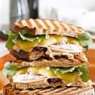 Turkey Panini with Fontina and Cranberry Fig Chutney
