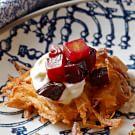 Potato Latkes with Sour Cream and Beet Relish