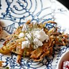 Zucchini Latkes with Feta Cheese and Dill