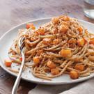 Whole-Wheat Spaghetti with Roasted Squash