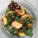 Baked Kale and Sweet Potato Chips