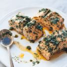 Steamed Salmon with Chermoula