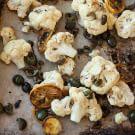 Roasted Cauliflower with Lemon and Olives