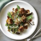 Ginger-Sesame Braised Chicken Meatballs