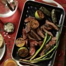 Bistec Adobado with Grilled Green Onions