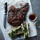 Grilled Peppercorn-Crusted Rib Eye
