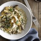 Truffle Risotto with Trumpet Mushrooms