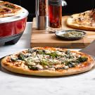 Pizza with Goat Cheese and Broccoli Rabe